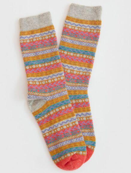 White Stuff Fairisle Sock Grey