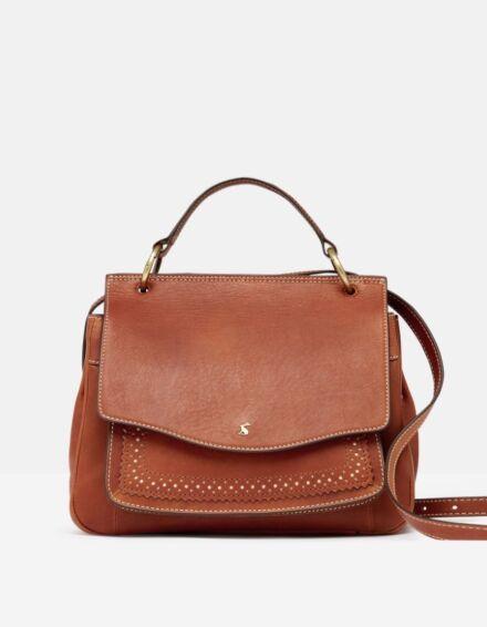 Joules Faybridge Leather Shoulder Bag Tan