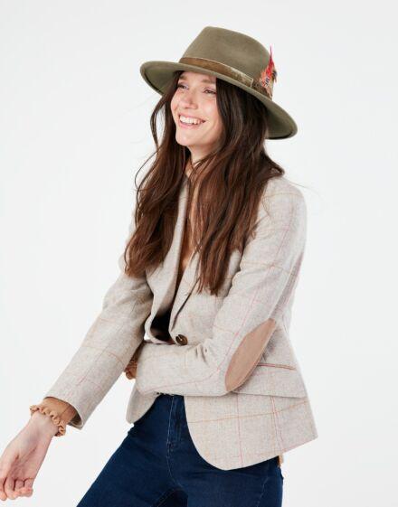 Joules Fedora Hat Khaki