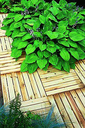 Forest Garden Ridged Deck Tile 50x50cm (Pack of 4)