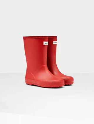Hunter Original First Wellington Boot Military Red