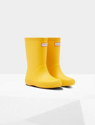 Hunter Original Kids First Classic Wellington Boots Yellow