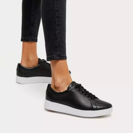 Fitflop Rally Leather Trainers Black