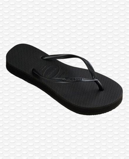 Havianas Slim Flatform Flip Flops Black