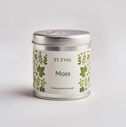 St Eval Folk Scented Tin Candle Moss
