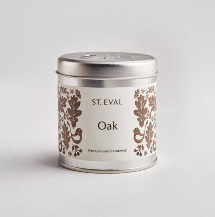 St Eval Folk Scented Tin Candle Oak