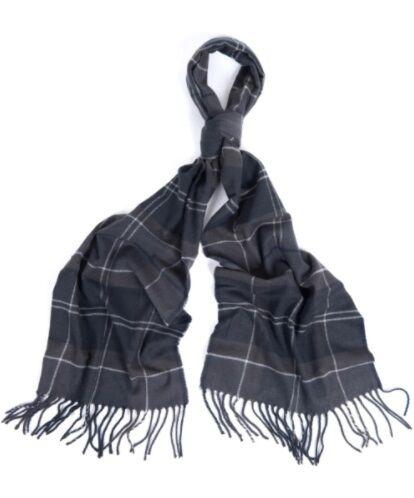Barbour Galingale Tartan Scarf Black/Grey