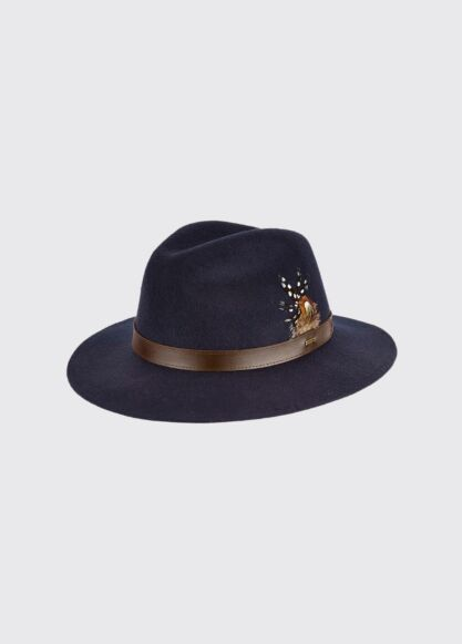 Dubarry Gallagher Felt Hat Navy