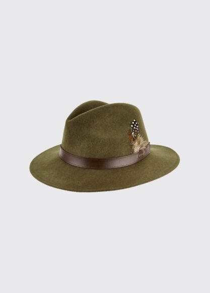 Dubarry Gallagher Felt Hat Olive