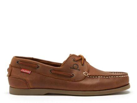Chatham Galley II Men's Boat Shoe Dark Tan