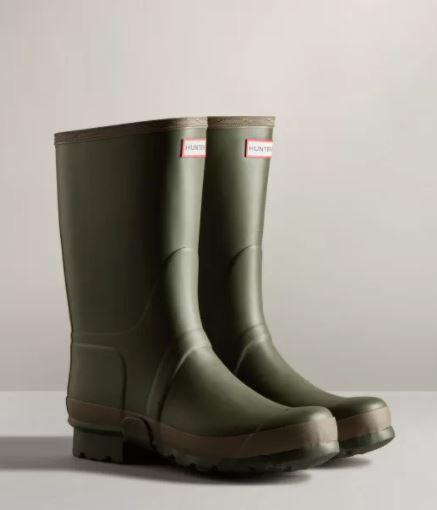 Hunter Men's Gardener Boot Dark Olive/Clay