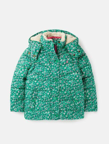 Joules Wren 2in1 Coat Green Ditsy