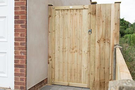 Forest Garden Pressure Treated Featheredge Gate 6ft
