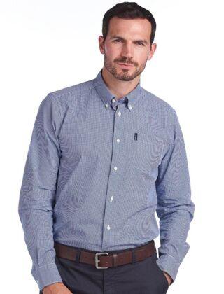 Barbour Gingham 23 Tailored Shirt Blue