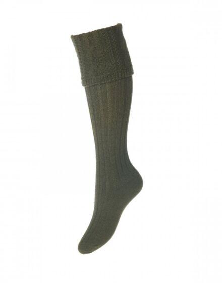 House of Cheviot Ladies Glenmore Socks Spruce