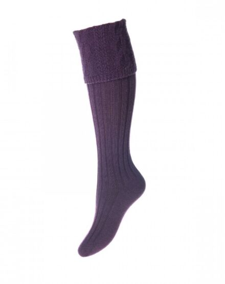 House of Cheviot Ladies Glenmore Socks Thistle