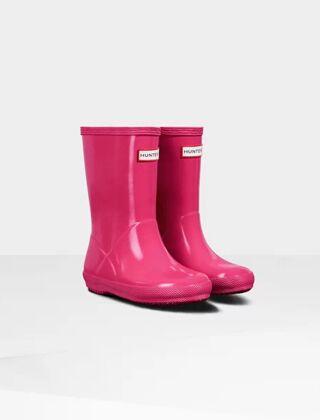 Hunter Kids Original First Wellington Boots Gloss Pink
