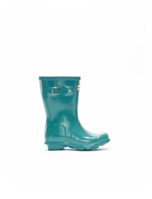 Hunter Little Kids Gloss Wellies Blue Spruce