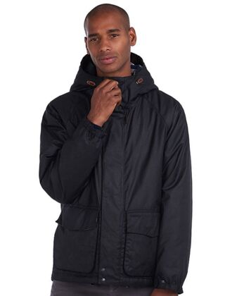 Barbour Grendle Waxed Cotton Jacket Black