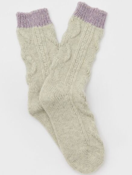 White Stuff Cable Boot Sock Grey