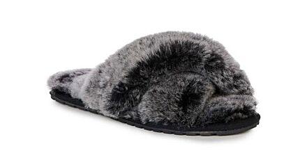 Emu Mayberry Frost Doubleface Sheepskin Slippers Black