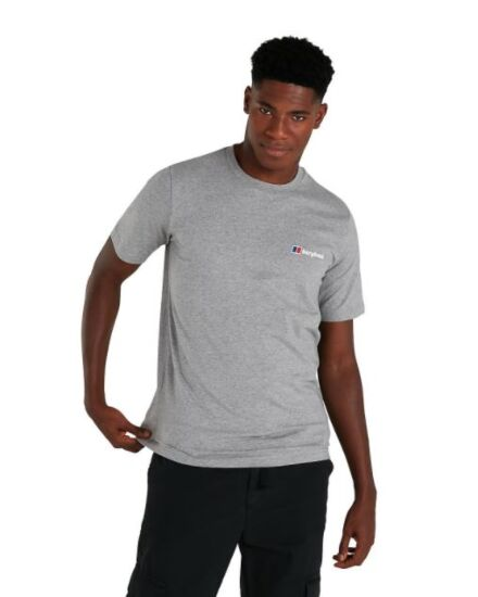 Berghaus Men's Organic Classic Logo T-Shirt Dark Grey