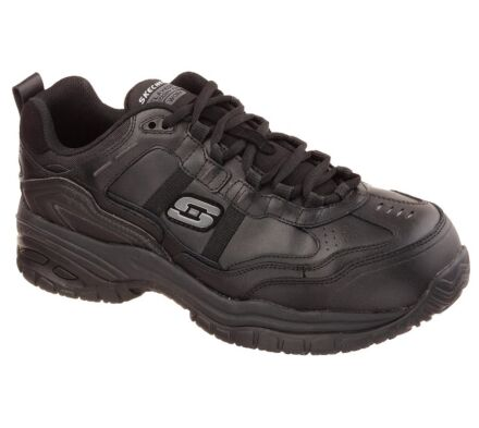 Skechers Work Relaxed Fit: Soft Stride - Grinnell Comp Toe Black
