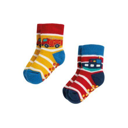 Frugi Grippy 2 Pack Socks Transport