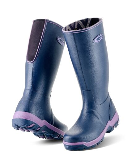 Grubs Rainline Wellington Boot Aubergine