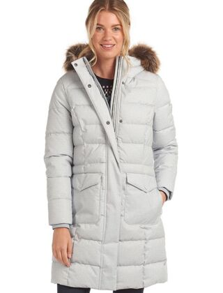 Barbour Guanay Quilted Jacket Gray Dawn