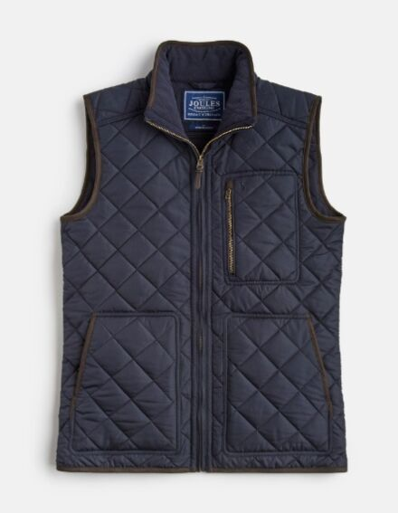 Joules Halesworth Fleece Lined Quilted Gilet Marine Navy