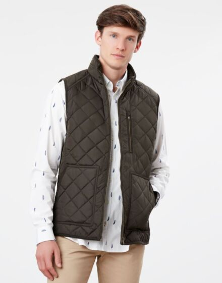 Joules Halesworth Quilted Gilet Heritage Green