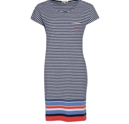 Barbour Harewood Stripe Dress Navy