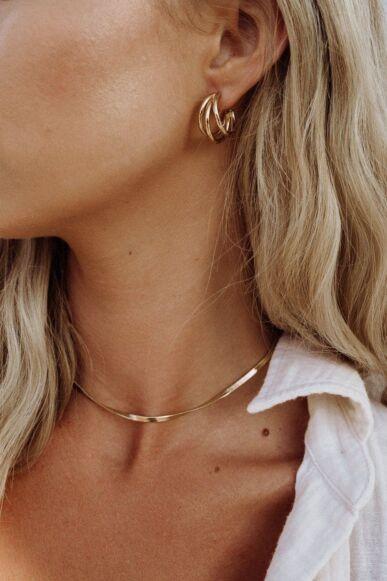 Ella Palm Harlow 18k Gold Triple Hoop Earrings