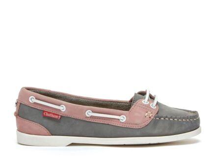 Chatham Harper Ladies Boat Shoe Grey/Pink