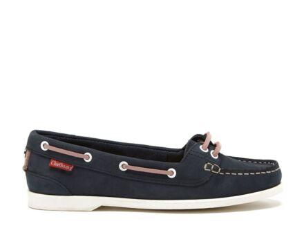 Chatham Harper Ladies Boat Shoe Navy/Pink