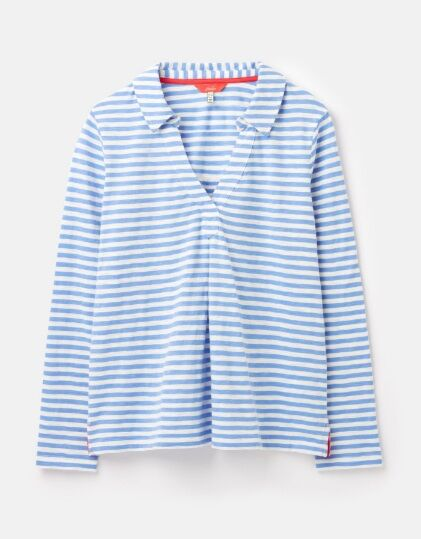 Joules Harri Jersey Shirt Cream Blue Stripe