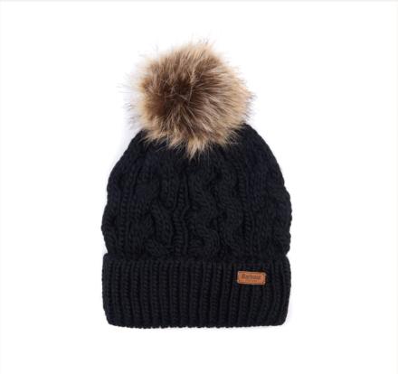 Barbour Penshaw Cable Beanie Hat Black