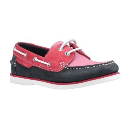 Hush Puppies Hattie Boat Shoe Pink/Navy