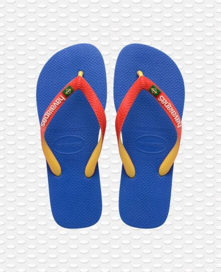 Havaianas Brasil Mix Flip Flops Blue Star/White