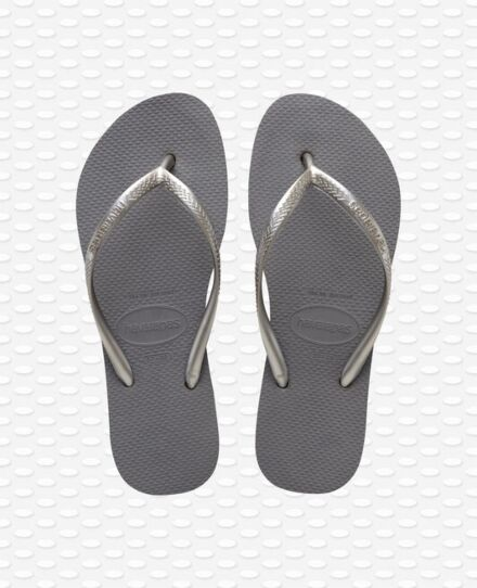 Havaianas Slim Flatform Flip Flops Steel Grey