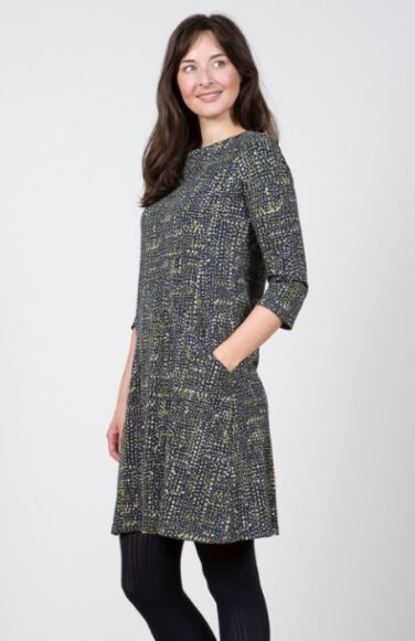 Lily and Me Helen Dress Dots Navy