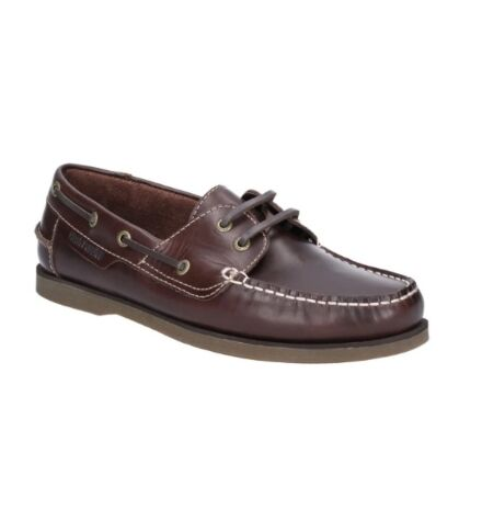 Hush Puppies Henry Classic Lace Up Shoe Dark Brown