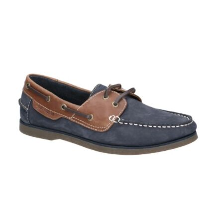 Hush Puppies Henry Classic Lace Up Shoe Navy/Tan