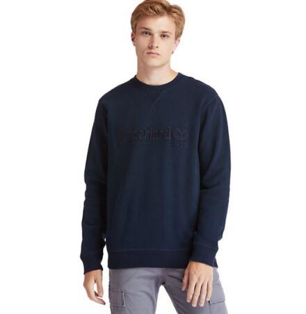 Timberland Heritage Linear Crew Sweatshirt Dark Sapphire