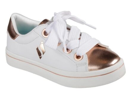 Skechers Hi Lite Medal Toes White/Rose Gold