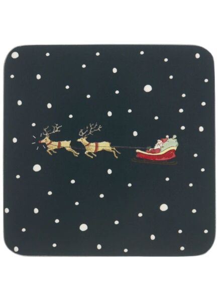 Sophie Allport Home For Christmas Coasters Set Of 4