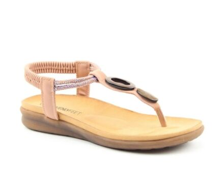 Heavenly Feet Honeydew Sandals Pink