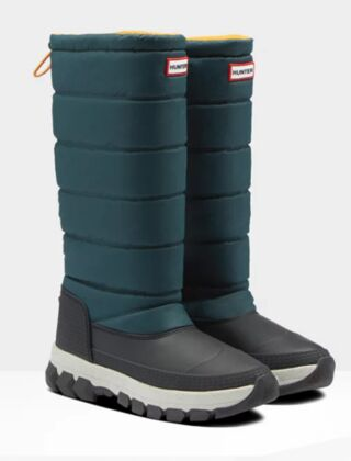 Hunter Women's Original Tall Insulated Snow Boot Green Jaspers/Geysers