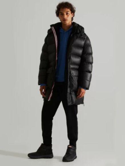 Hunter Men's Rubberised Puffer Coat Black
